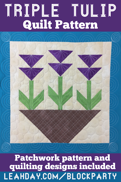 Find a Triple Tulip Flower Quilt Pattern