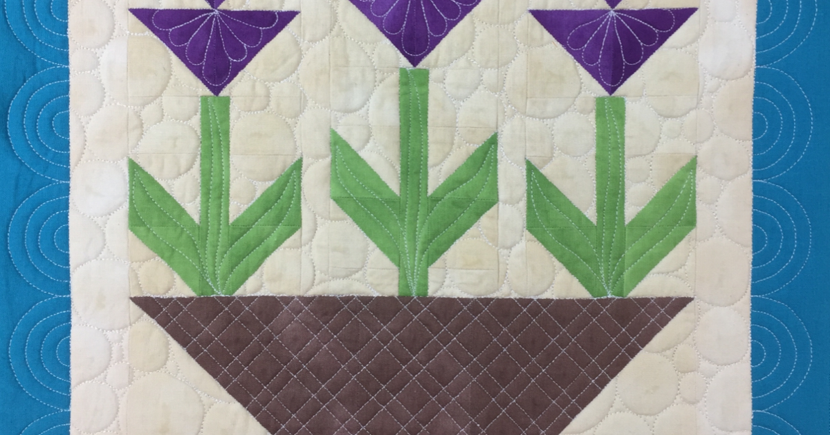 The Free Motion Quilting Project New Triple Tulip Quilt