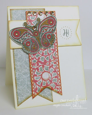 ODBD Beautiful Boho Paper Collection, Boho Blessings, ODBD Custom Fancy Fritillary Dies, Card Designer Angie Crockett