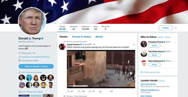 Trump Hits New Low Retweeting Fake Anti Muslim Videos