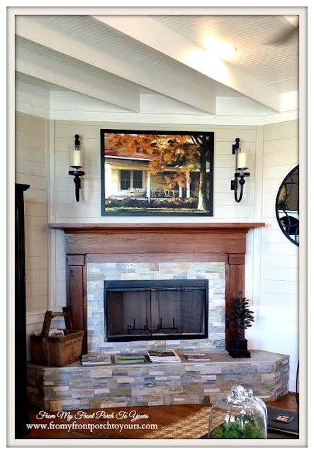Texas Farmhouse-Round Top-Plnked Ceiling--Fireplace-From My Front Porch To Yours