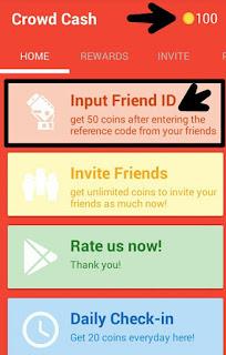 Masukan Kode Invite CrowdCash