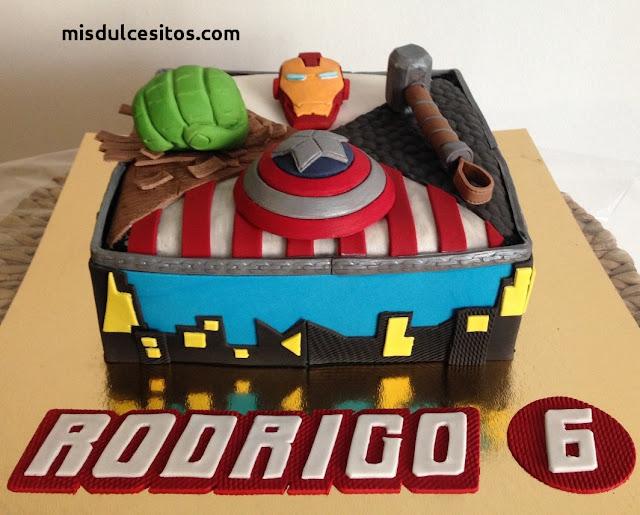 Tortas Avengers. Venta de tortas para cumpleaños infantiles en Lima