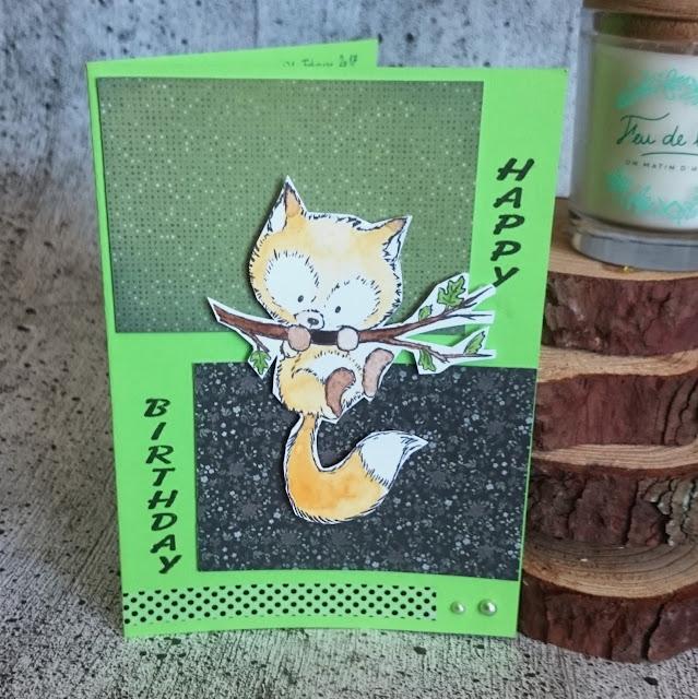 [DIY] Ausgefuchste Geburtstagskarte - Fox on Branch