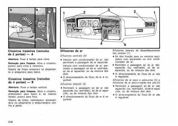 MANUAIS DO PROPRIETÁRIO: MANUAL DO MONZA 1988