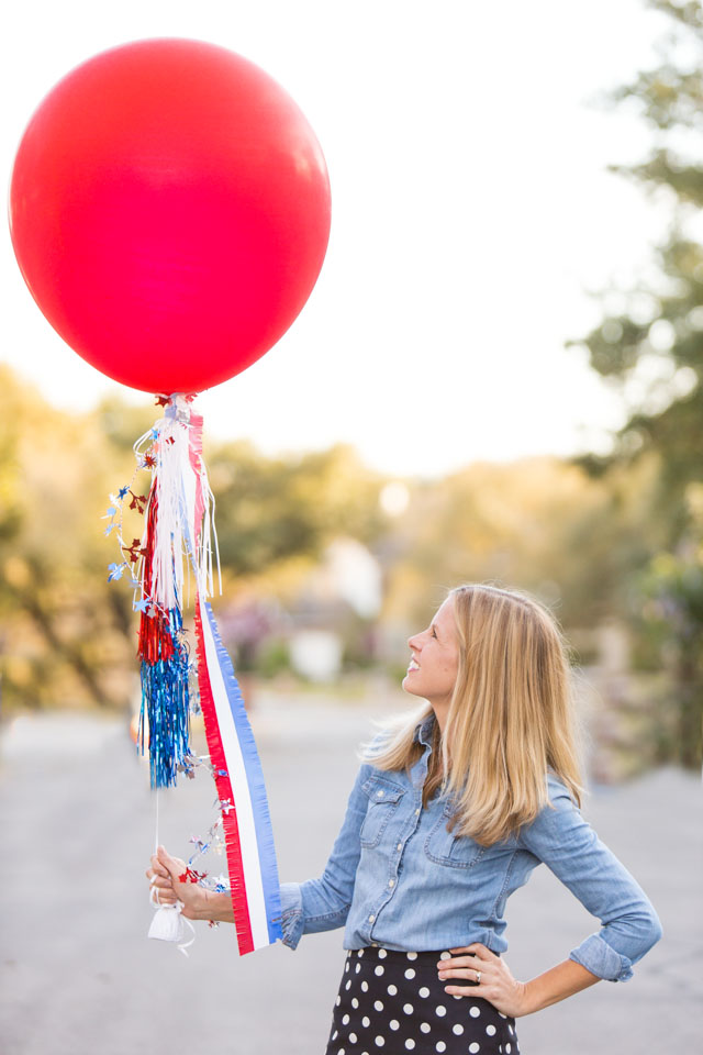 Make a giant DIY patriotic balloon for your 4th of July or Memorial Day party!