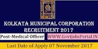 Kolkata Municipal Corporation Recruitment 2017– Medical Officer