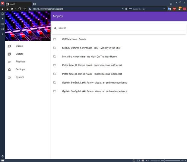 Spotify, Tidal, Google Music (y más) en bitperfect en Linux y OS X Mopidy_898