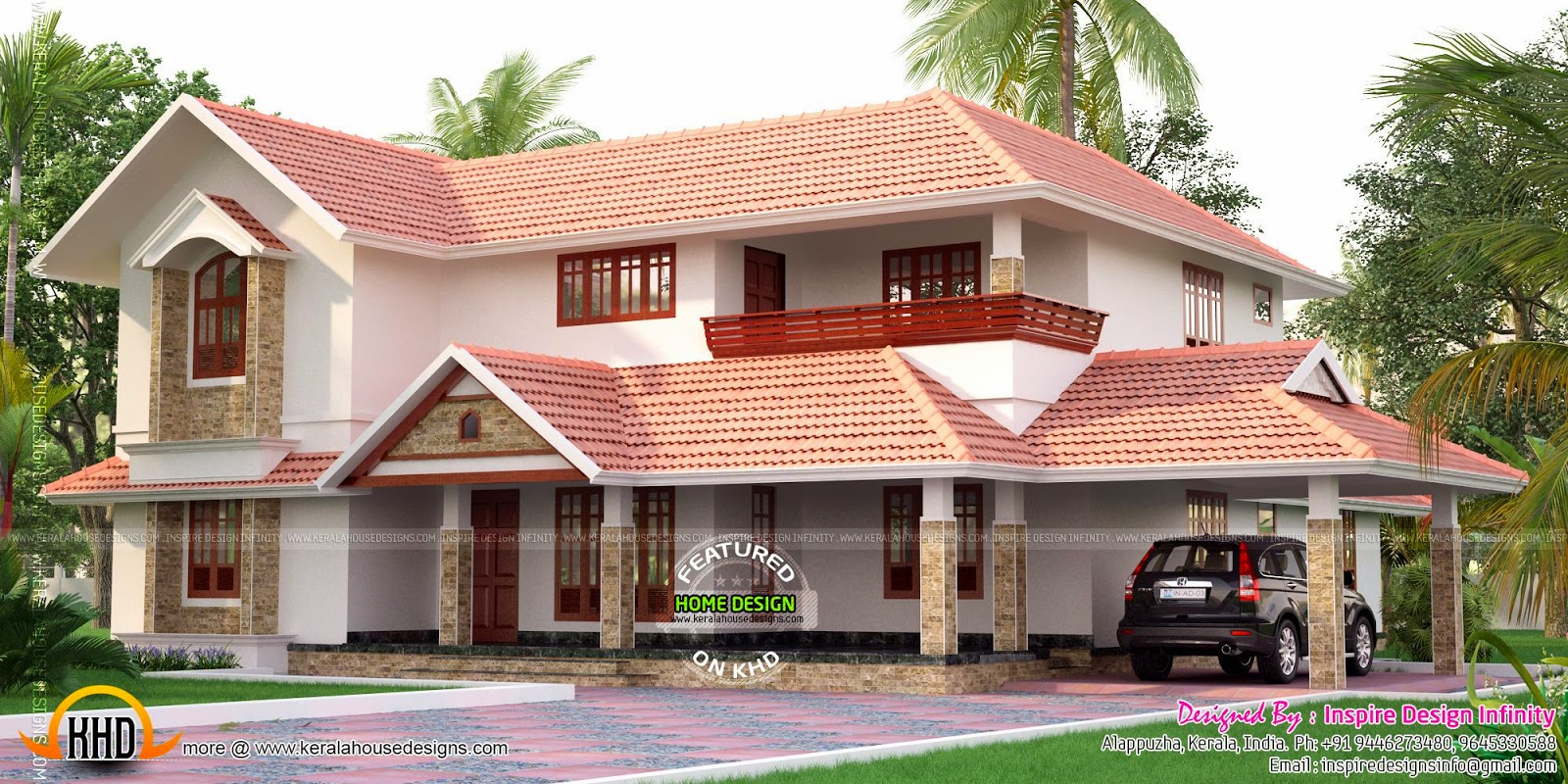 Kerala model luxury house exterior Home Design Simple