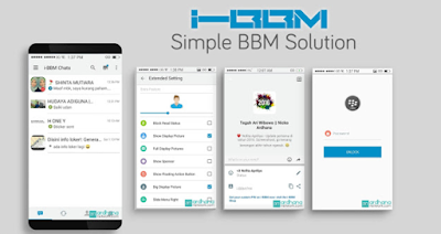 Download BBM Mod iPhone Style iOS Apk