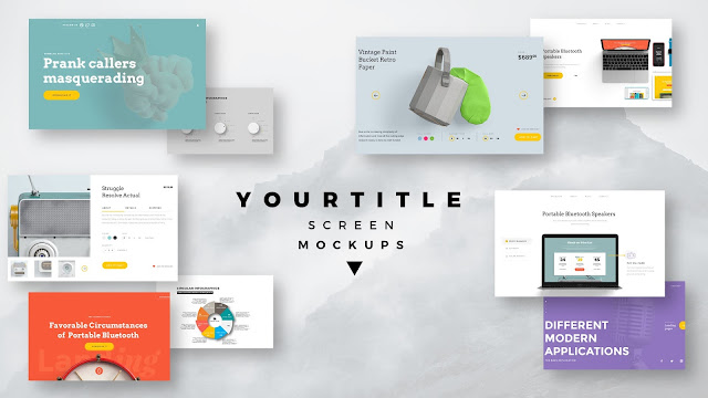 Modern Presentation Screen Mockup with Free PowerPoint Templates Slide 1