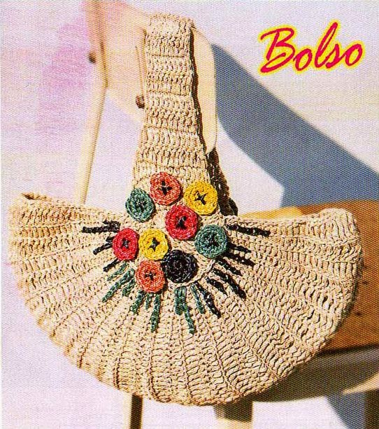 Bolso media luna a Crochet