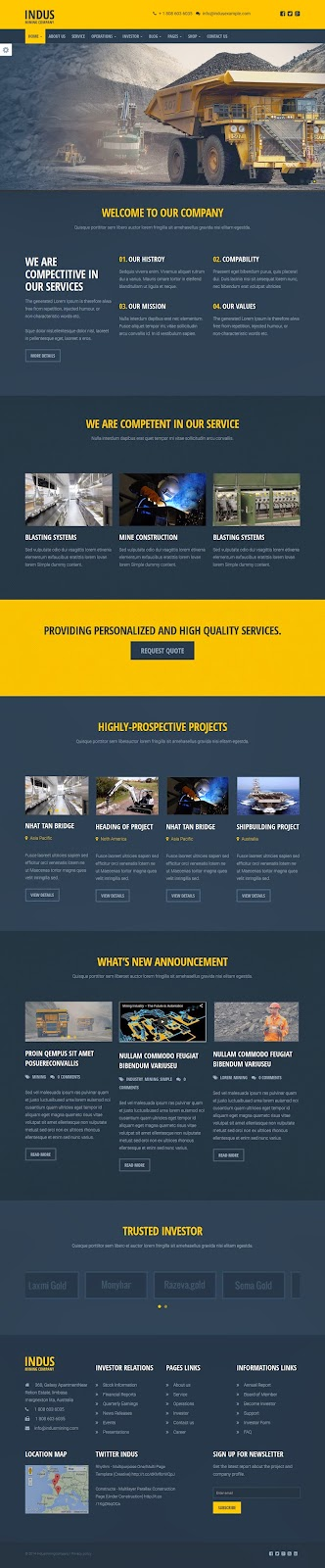 best Industrial Business WordPress Theme 2015