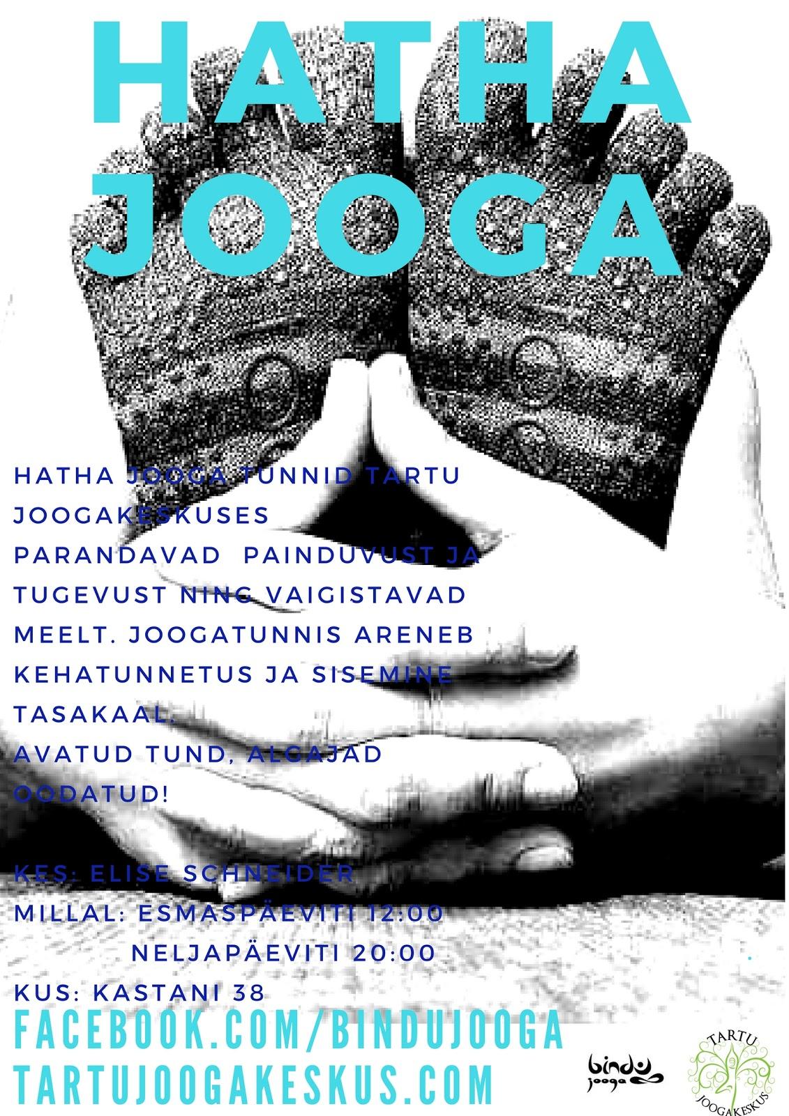 7cc01db0faa Minu Hatha jooga tunnid toimuvad alates oktoobrist Tartu Joogakeskuses,  Kastani 38: