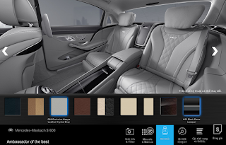 Nội thất Mercedes Maybach S600 2015 màu Xám Crystal (508)