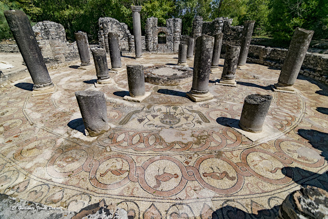 Mosaico del Baptisterio de Butrint - Albania por El Guisante Verde Project