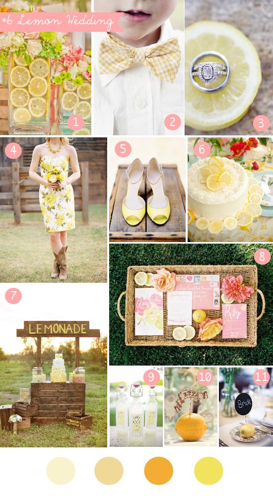 lemon wedding, yellow wedding, inspiration board, summer wedding
