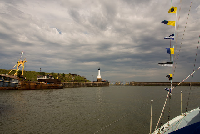 Photo of leaving Maryport Marina heading for the Solway Firth