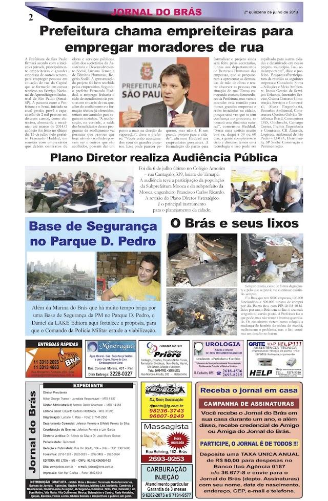 Destaques da Ed. 233 - Jornal do Brás