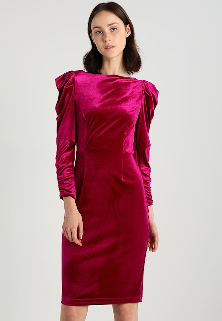 Dorothy Perkins Rouched Sleeve Bodycon - Tubino Magenta