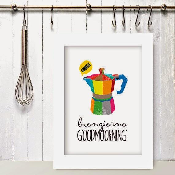 Home inspiration le stampe da appendere in cucina vita - Stoviglie e utensili da cucina ...