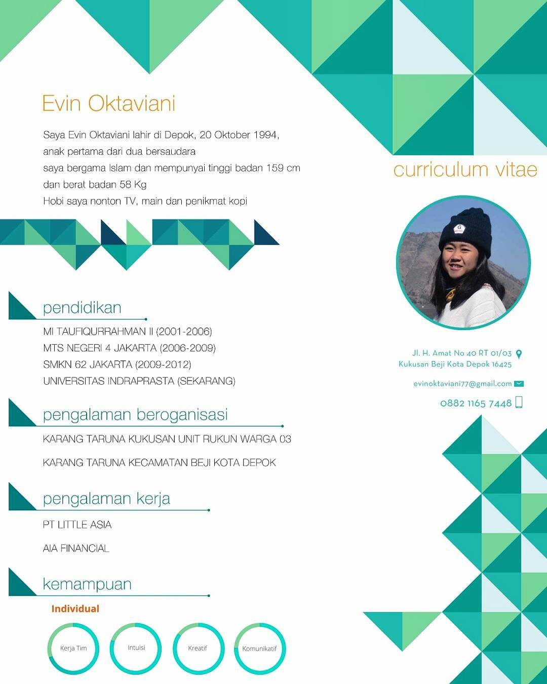 Contoh Curriculum Vitae Guru Tk Creative Writing Essays