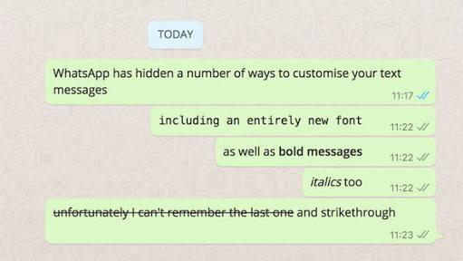 secret hidden whatsapp tricks