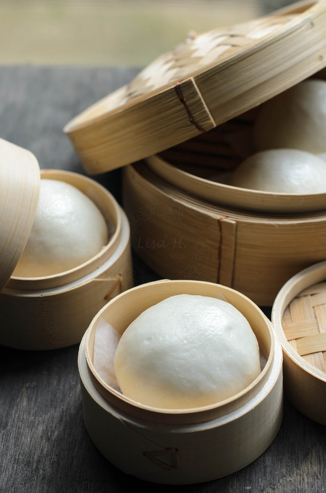 Soft and pillowy Red bean steamed buns