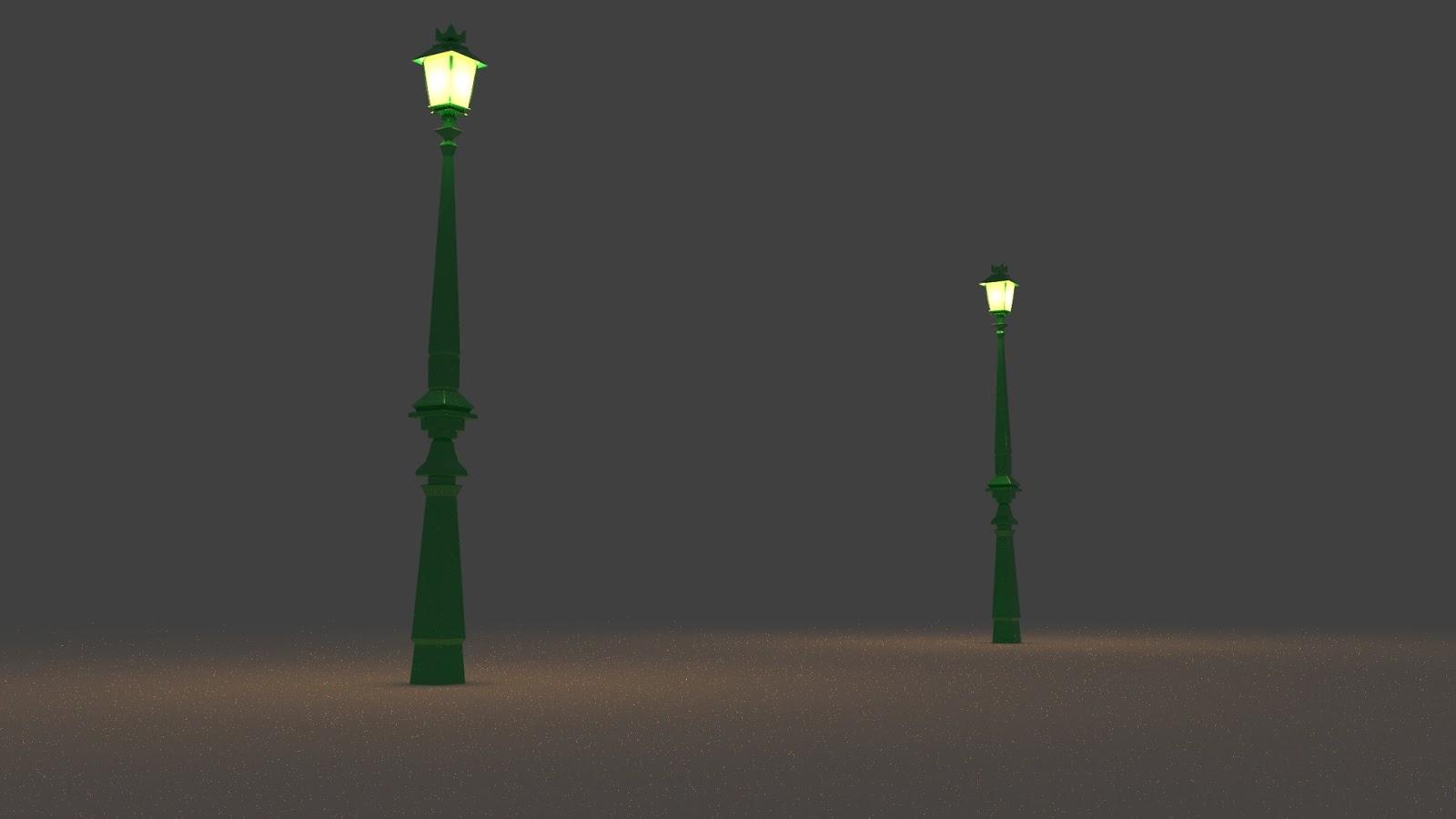 Free 3D Street Lamp .blend file