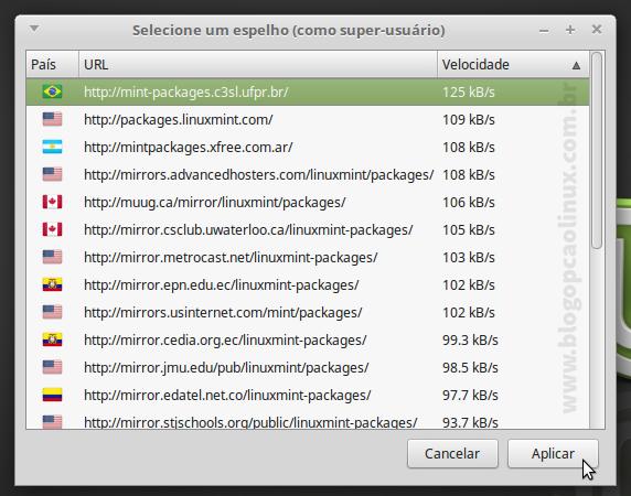 Selecione o URL referente à UFPR