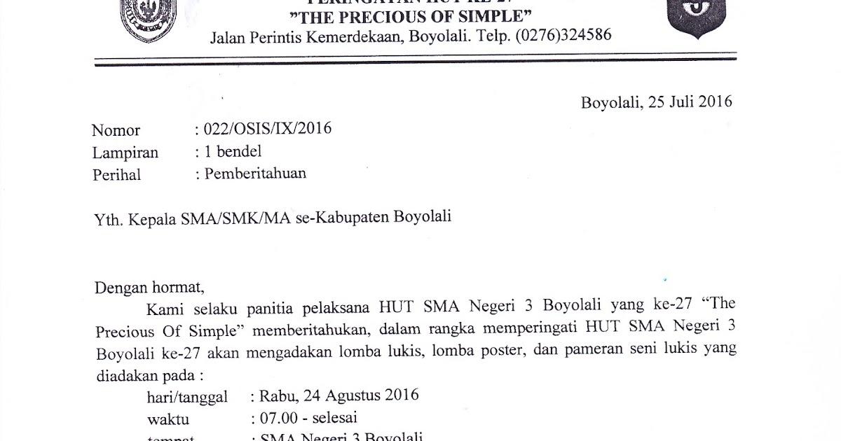 Info Sma Smk Kabupaten Boyolali Pemberitahuan Lomba Lukis