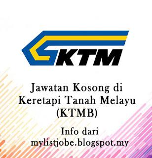 Jawatan Kosong Terkini di Keratapi Tanah Melayu (KTMB)
