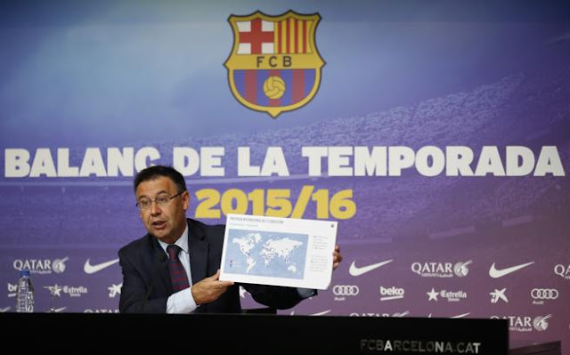 Bartoméu trata de ocultar el final con Qatar con números, Nike y Neymar