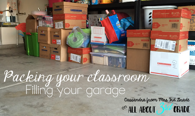 A garage full of teaching materials can only mean one thing, it is time to switch schools or grade levels!