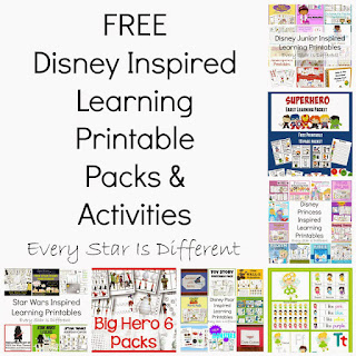 Free Disney Inspired Learning Printable Packs and Activities