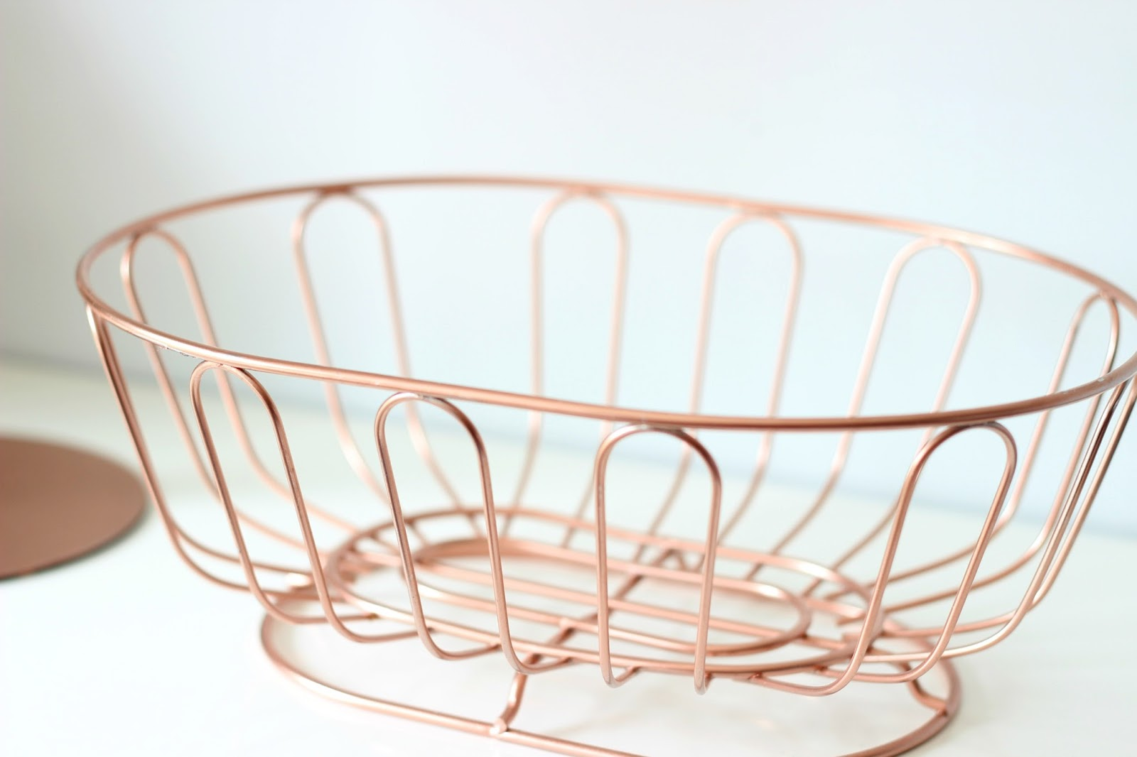 A picture of my DIY Copper Fruit Bowl