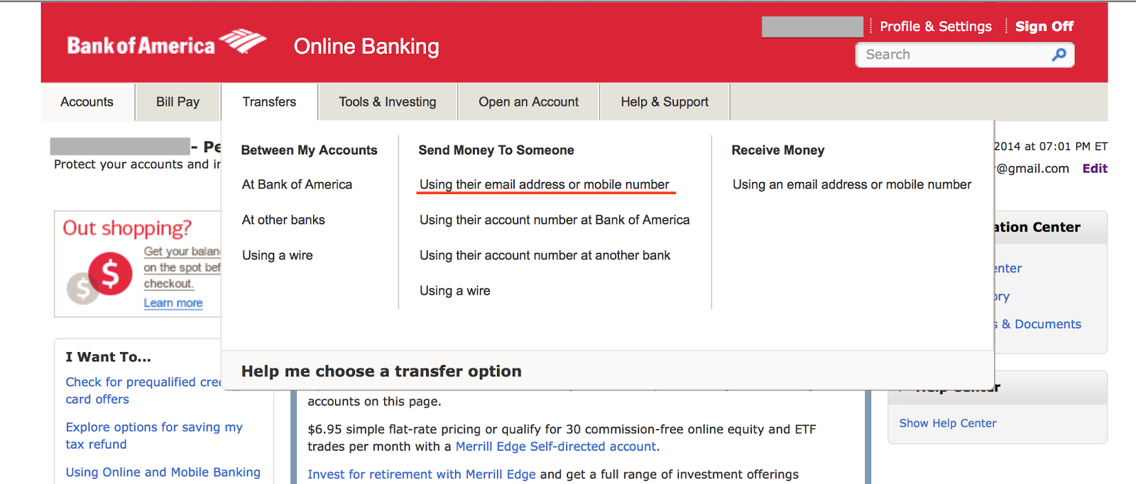 Log In To Your Online Bank Select Transfers Send Money Someone Using Their Email Address Or Mobile Number