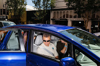 A Honda salesman gave a test drive to a customer in an electric car in San Rafael, Calif. Many dealers are unenthusiastic about selling electric cars. (Credit: Jason Henry for The New York Times) Click to Enlarge.