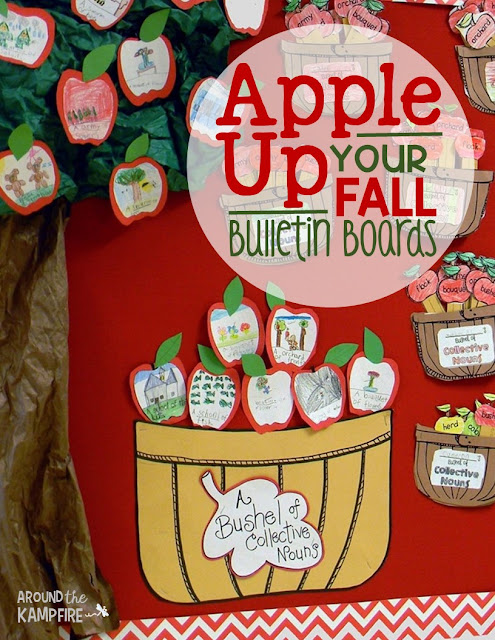 Apple up your fall bulletin boards! Fall bulletin board ideas. Part of a 5-part blog series of apple activities kids love!