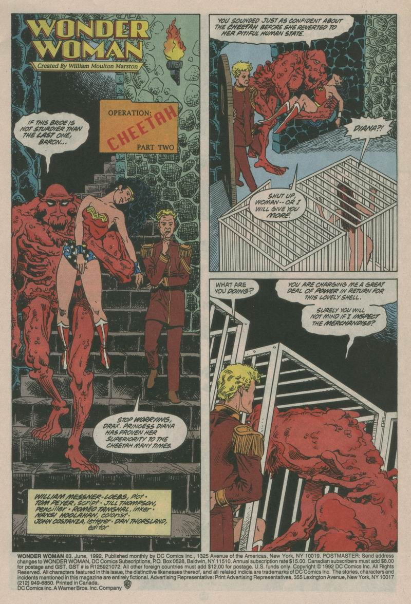 Read online Wonder Woman (1987) comic -  Issue #63 - 2