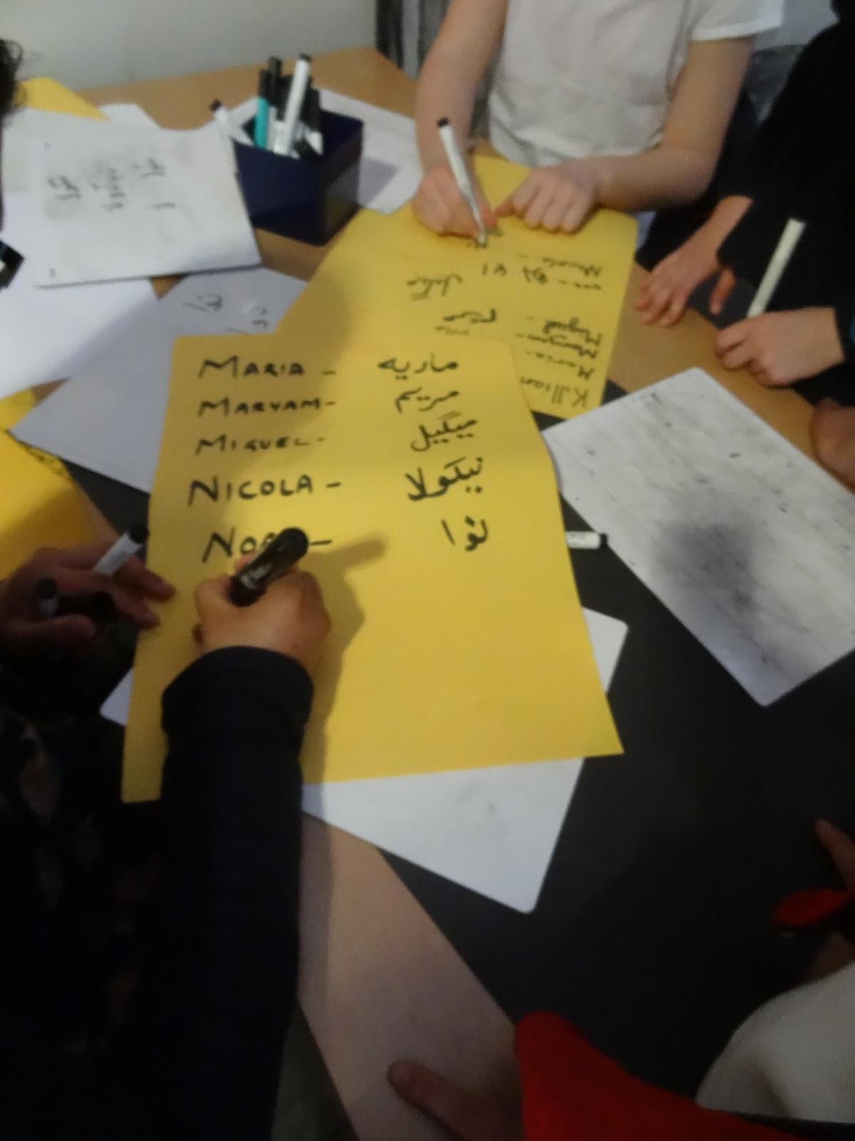 y4 at ist writing our names in urdu - Periodic Table With Names In Urdu