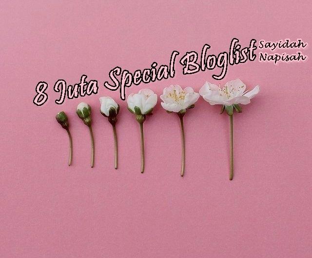8 Juta Special Bloglist Sayidah Napisah!