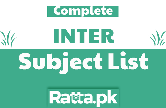 Inter Subject Lists with Optional and Elective Subjects List and Combinations of 1st and 2nd year
