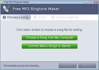 விரும்பிய Ringtone களை எளிதில் உருவாக்க Free Ringtone Maker