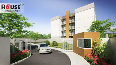 Condomínio fechado dividido em 4 blocos, possui plantas de 2 dormitórios com churrasqueira.