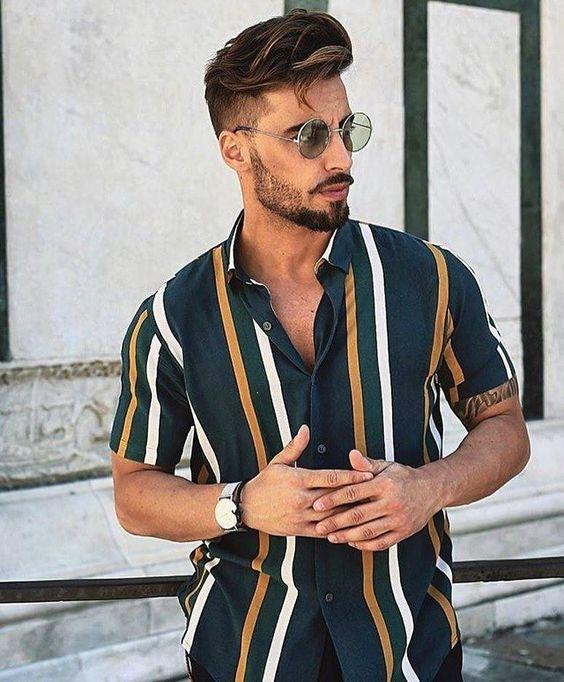 Resultado de imagem para camisas lisas com acessórios moda masculina