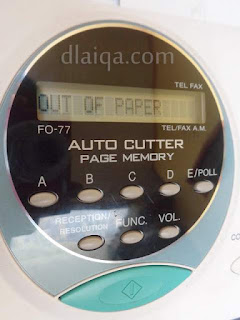 Mesin Fax - Out Of Paper (Kertas Habis)
