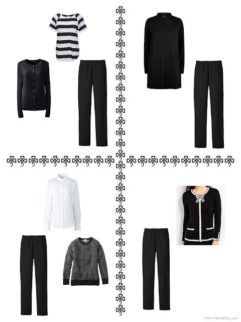4 ways to wear dress pants from my October 2017 wardrobe