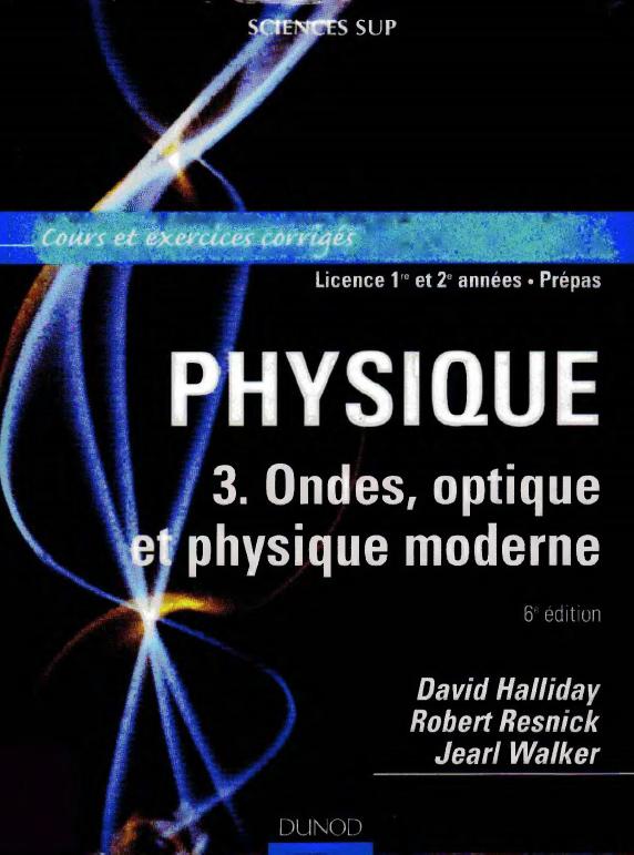 livre   physique ondes optique et physique moderne