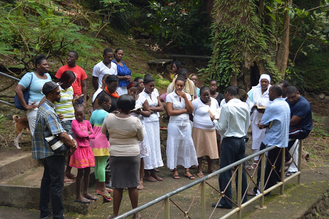 Anadale Falls Grenada Bible reading